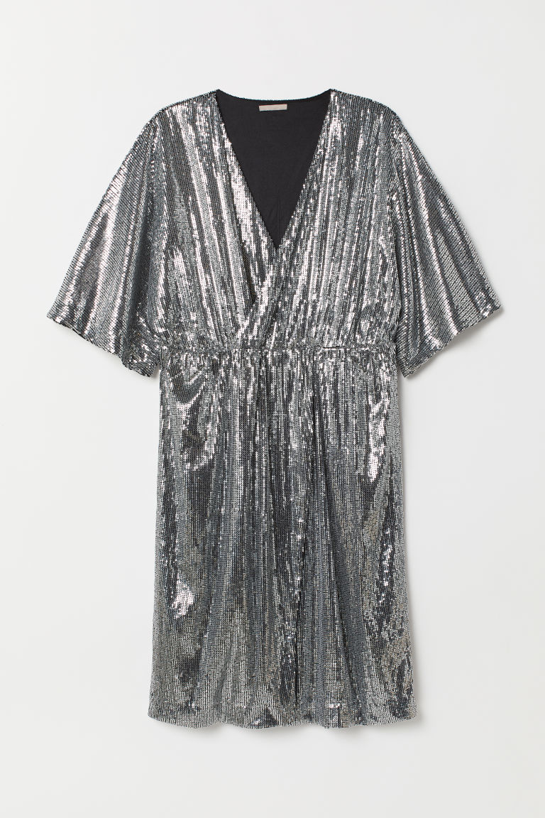 H&M+ Sequined dress - Silver-coloured - Ladies | H&M CN