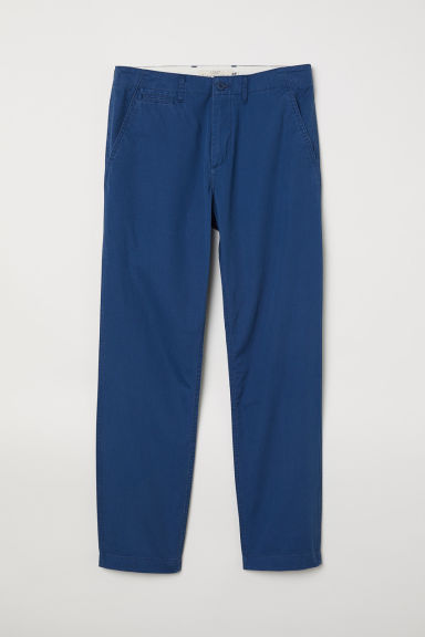 Cotton chinos - Blue -  | H&M CN
