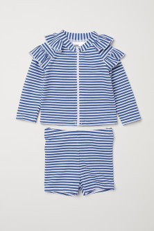 Striped swim setModel
