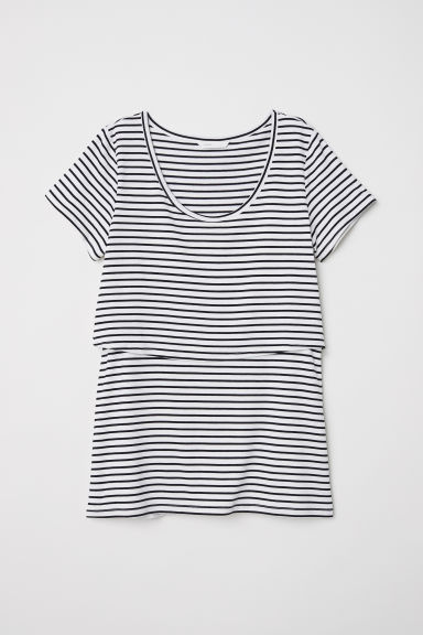 MAMA Nursing top - White/Black striped -  | H&M