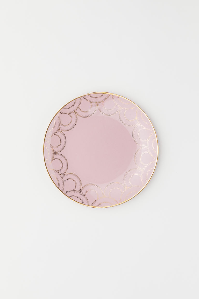 Porcelain plate - Pink - Home All | H&M CN