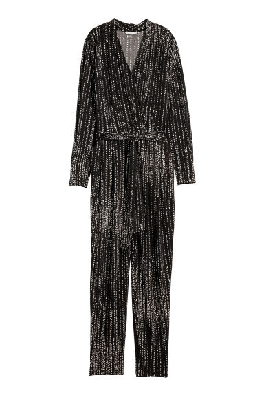 Jumpsuit - Black/Patterned -  | H&M CN