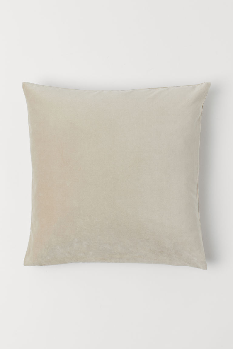 Velvet cushion cover - Beige - Home All | H&M GB