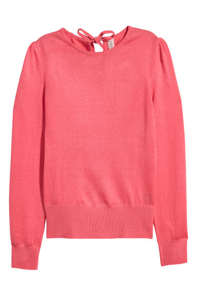Puff-sleeved jumper - Raspberry pink -  | H&M