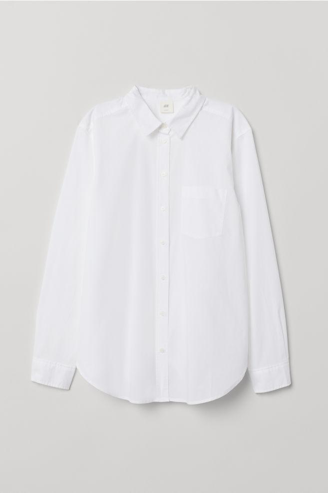 Cotton shirt - White - Ladies   H&M GB 5