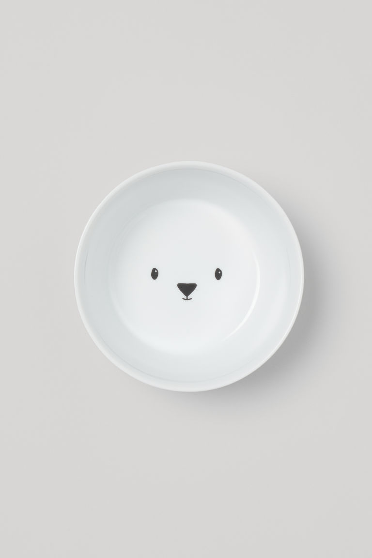 Bol en porcelaine - Blanc/ours - Home All | H&M CA