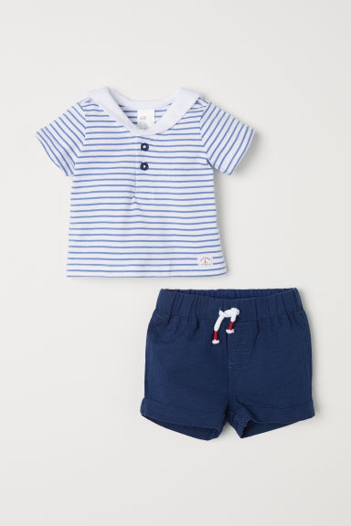 Sailor set - Dark blue/Striped - Kids | H&M