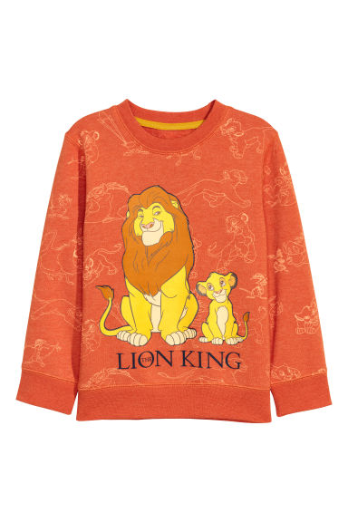 Printed sweatshirt - Orange/The Lion King - Kids | H&M