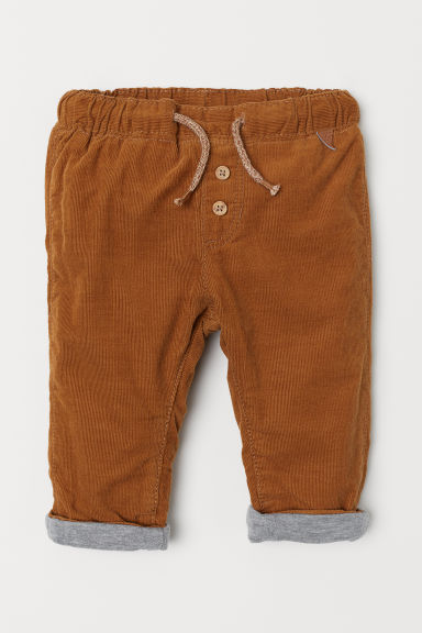 Lined corduroy trousers - Camel - Kids | H&M