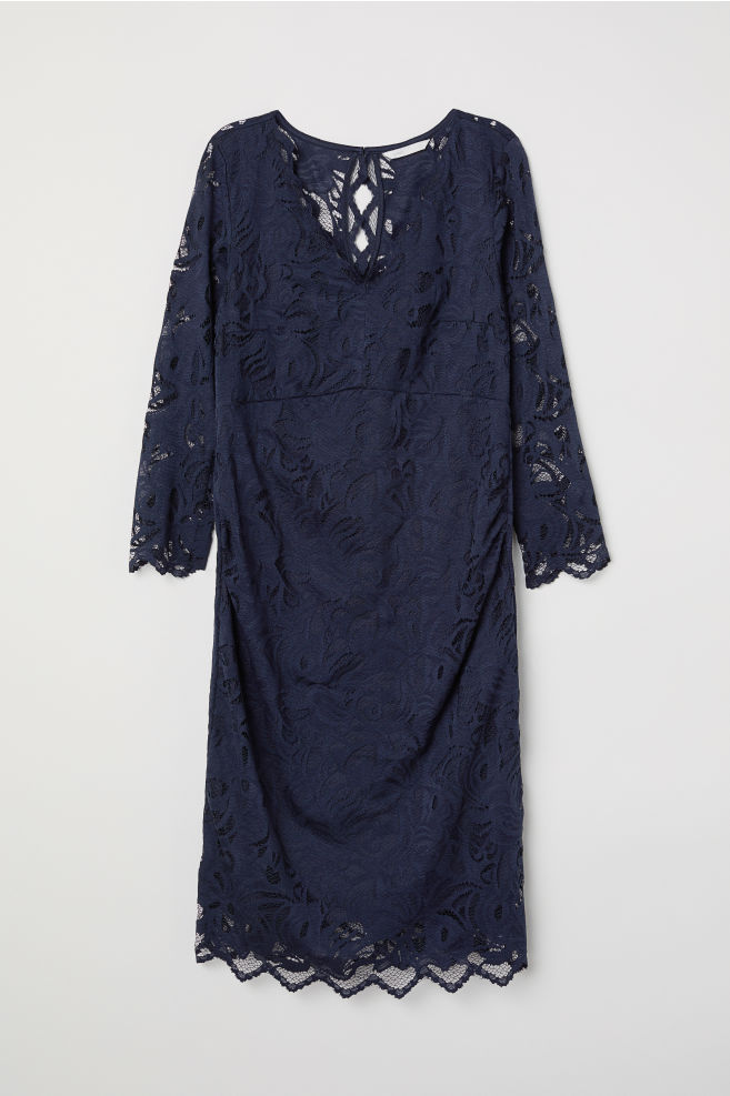 1c8050f089 MAMA Koronkowa sukienka - Ciemnoniebieski - ONA