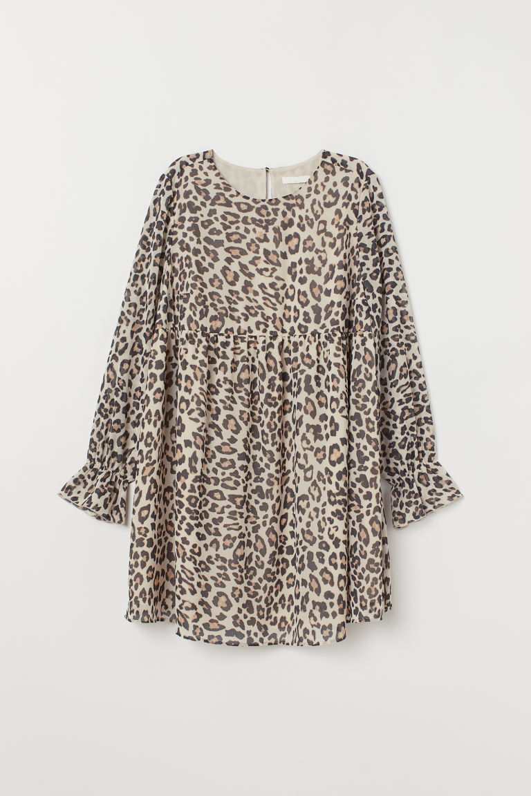 MAMA Patterned tunic - Light beige/Leopard print - Ladies | H&M CN
