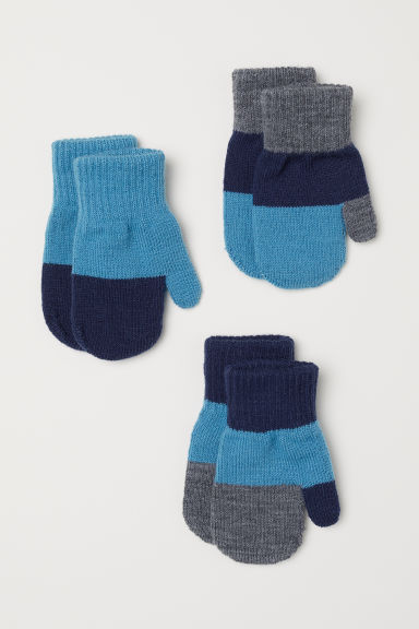 3-pack mittens - Turquoise - Kids | H&M