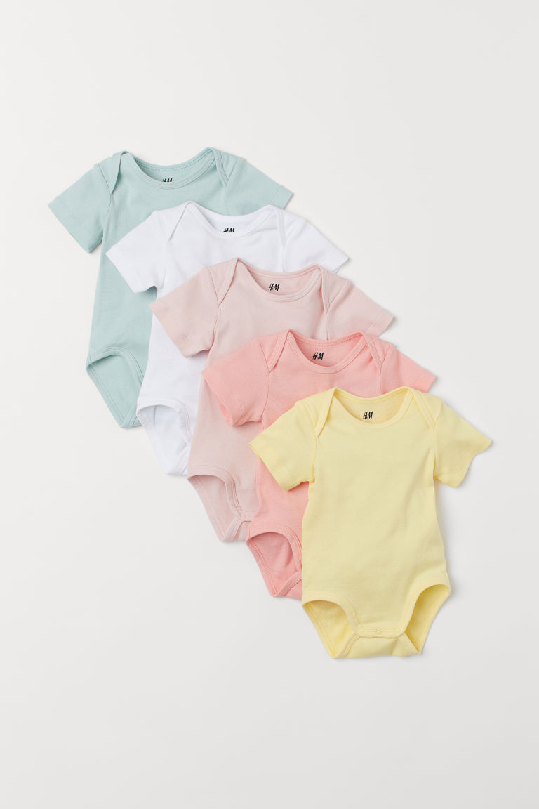 5-pack Bodysuits - Light yellow - Kids | H&M US