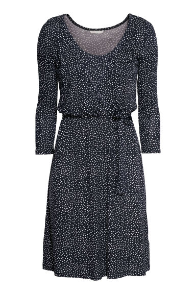 MAMA Nursing Dress - Dark blue/dotted - Ladies | H&M US
