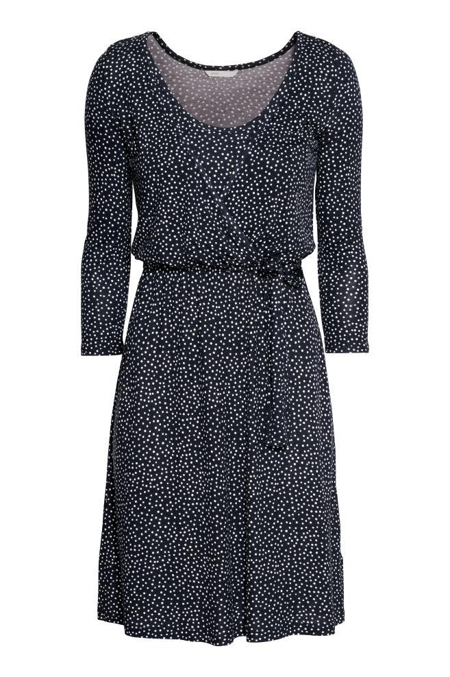 df638ceea2244 MAMA Nursing Dress - Dark blue/dotted - Ladies | H&M ...