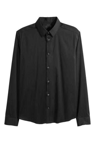 Shirt Super skinny fit - Black - Men | H&M GB