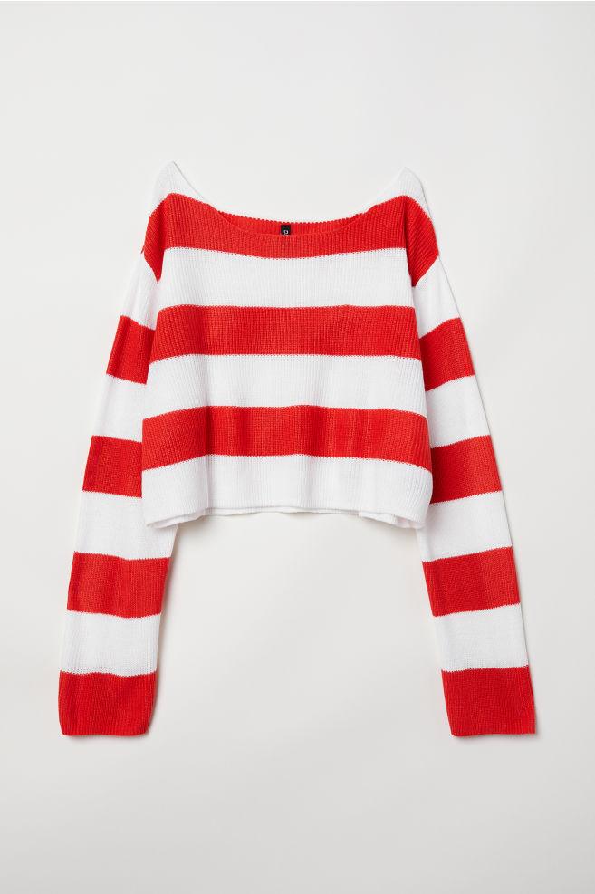 Striped Sweater Redwhite Striped Ladies Hm Us