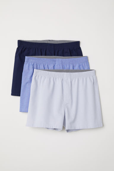 3-pack woven boxer shorts - Grey/Multicoloured - Men | H&M CN
