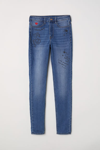 Super Skinny High Jeans - 丹寧藍 -  | H&M