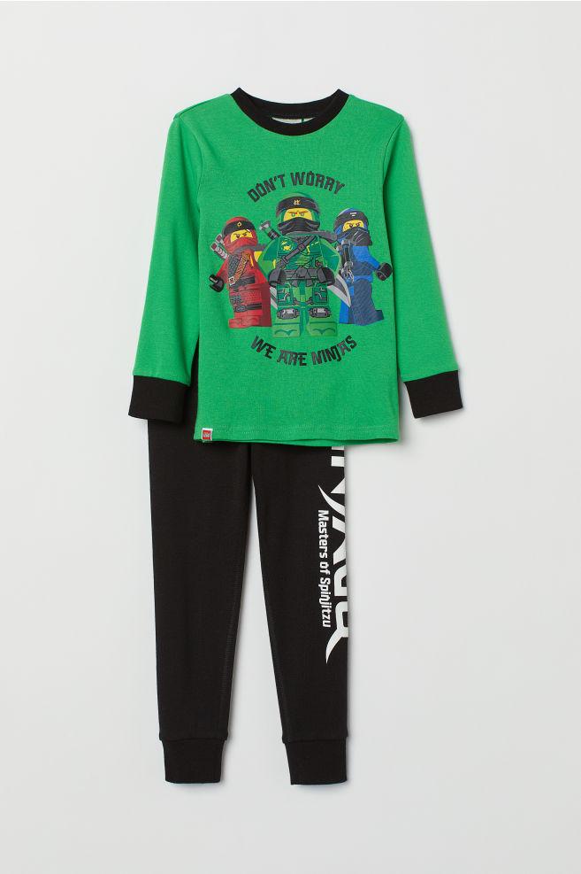 1e92216c2d43 Jersey pyjamas - Neon green Ninjago - Kids
