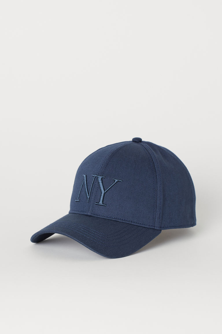 Cotton twill cap - Dark blue/NY -  | H&M