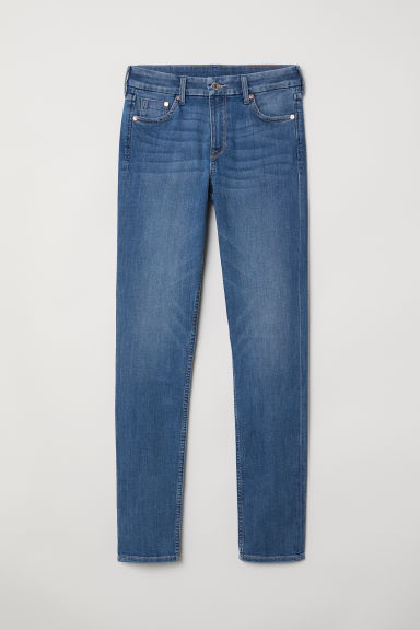 Skinny Regular Jeans - Donkerblauw -  | H&M BE