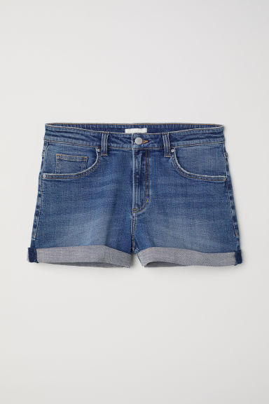 Shorts in denim Girlfriend - Blu denim - DONNA | H&M IT