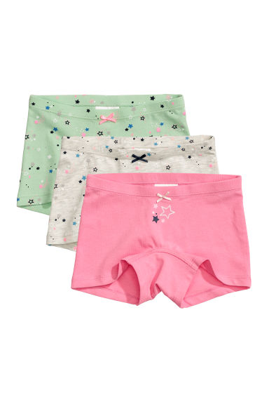 3-pack boxer briefs - Pink/Stars - Kids | H&M