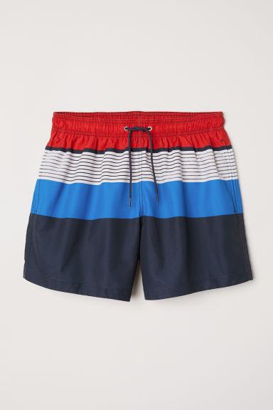 Swim shorts - Dark blue/Block-coloured - Men | H&M