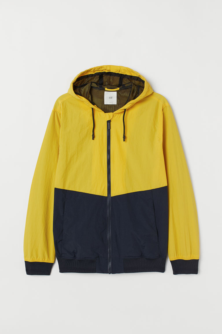 Windbreaker - Yellow/dark blue -  | H&M CA