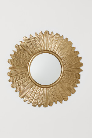 Large metal-framed mirror