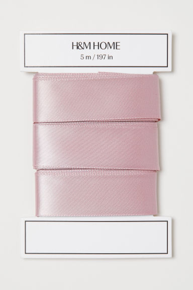 Satin ribbon - Dusky pink - Home All | H&M GB
