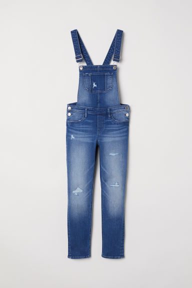 Denim dungarees - Dark denim blue -  | H&M
