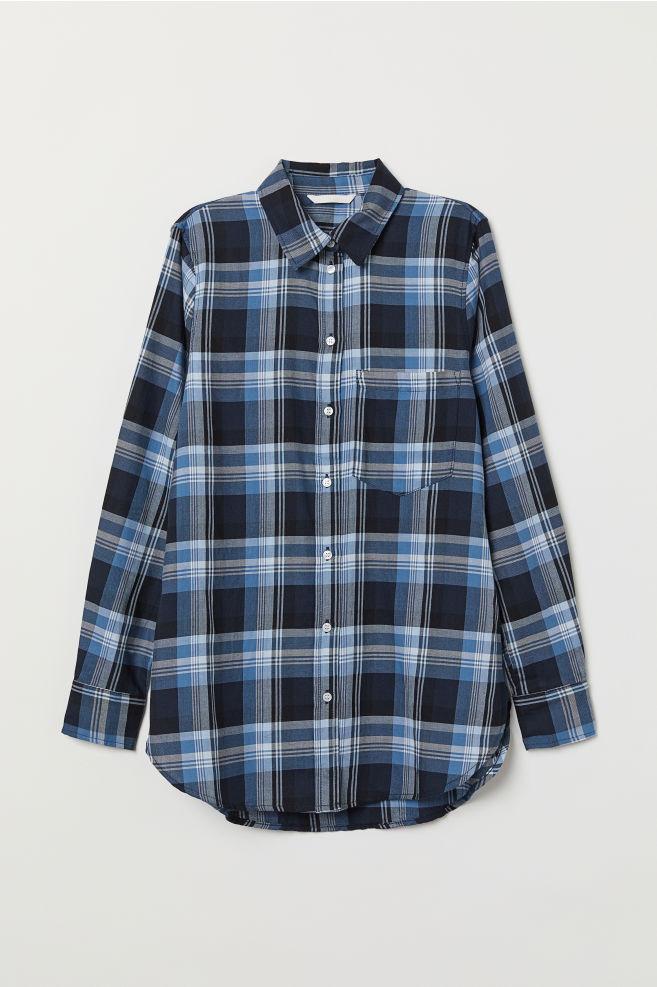 571ac71b Rutet skjorte - Mørk blå/Rutet - DAME | H&M ...