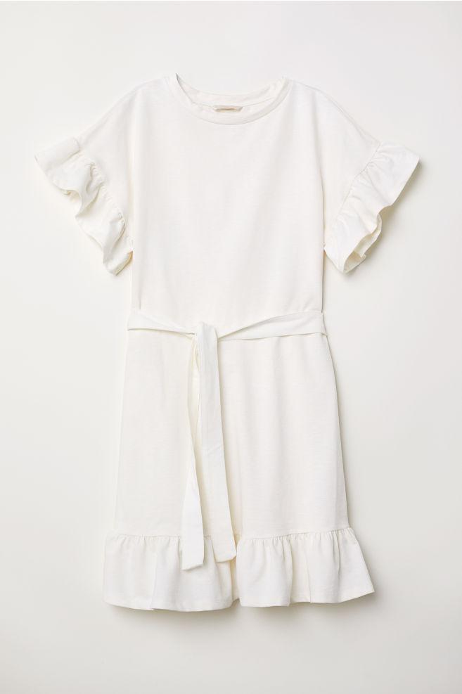 nieuwe high eerste klas laag geprijsd Flounced Jersey Dress