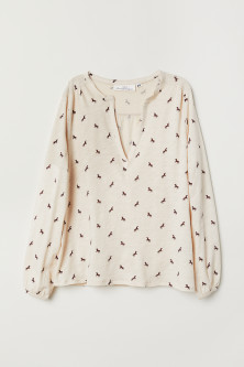 V-neck jersey blouse