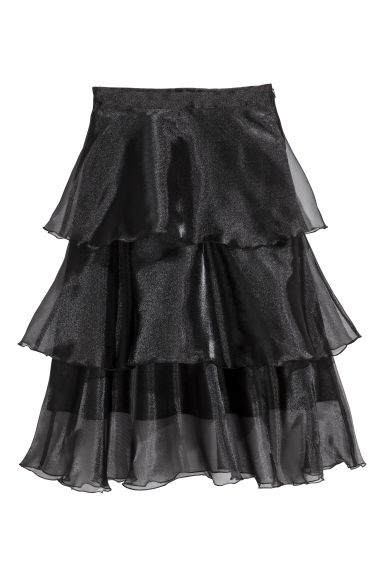 Tiered skirt - Black -  | H&M