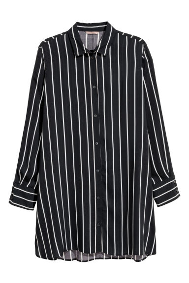 H&M+ Tunic - Black/White striped - Ladies | H&M