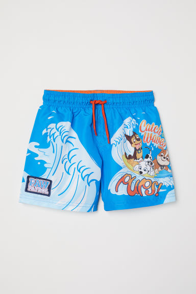 Swim shorts - Blue/Paw Patrol - Kids | H&M CN