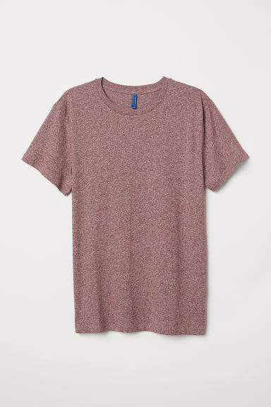 T-shirt - Burgundy marl - Men | H&M