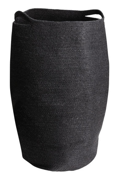 Jute laundry basket - Black - Home All | H&M CN