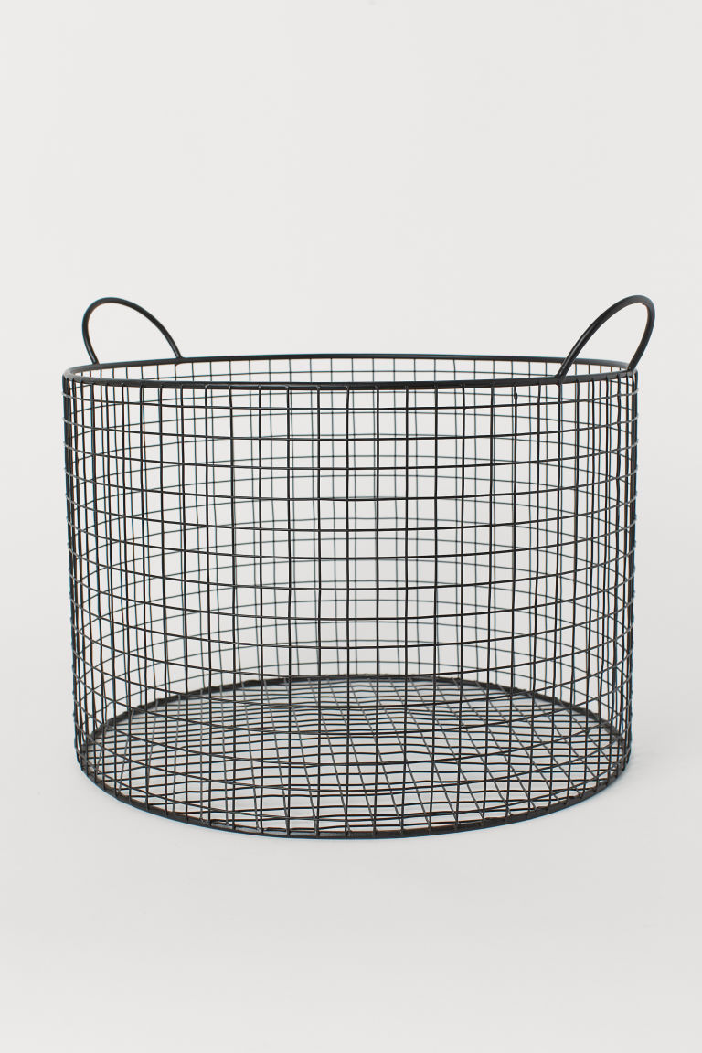 Large Wire Basket - Black - Home All | H&M US