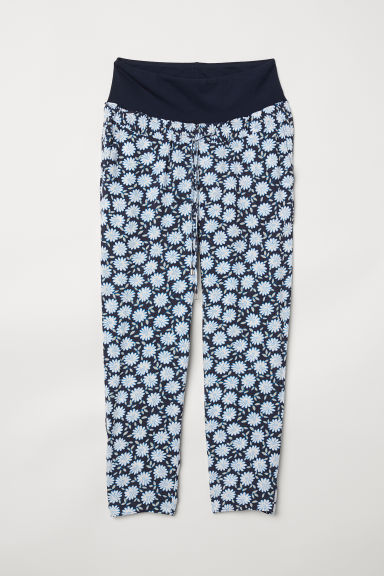 MAMA Wide trousers - Dark blue/Floral - Ladies | H&M CN