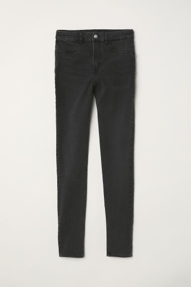 Super Skinny High Jeans - Dark grey - Ladies | H&M