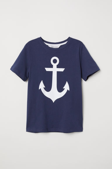 T-shirt con stampa - Blu scuro/ancore -  | H&M IT