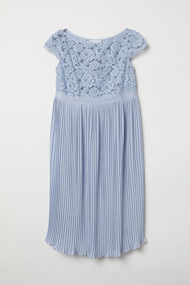 MAMA Pleated dress - Light blue - Ladies | H&M