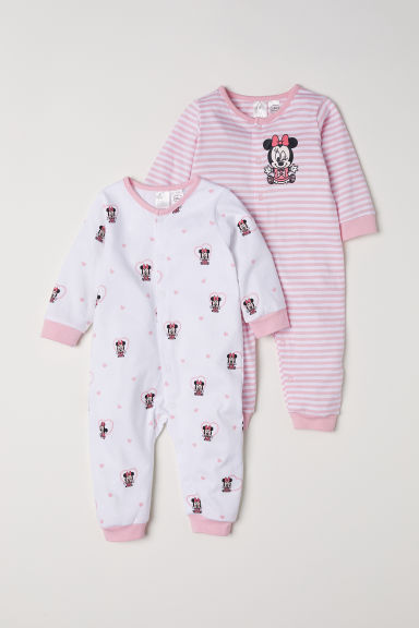 2-pack all-in-one pyjamas - Light pink/Minnie Mouse - Kids | H&M CN