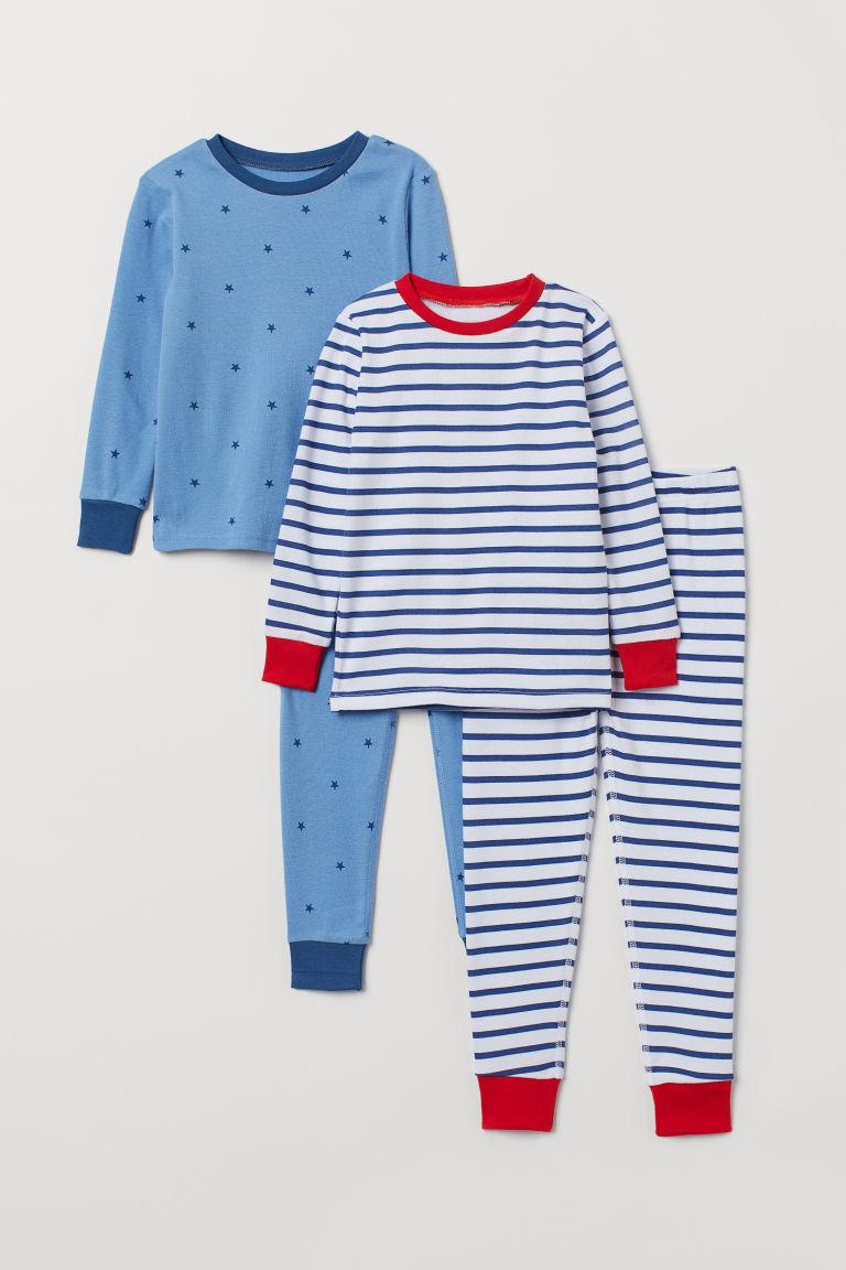 5038579e8 2-pack Jersey Pajamas - Blue stars - Kids