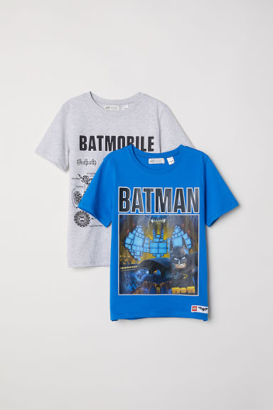 T-shirts, lot de 2 - Bleu/Lego Batman -  | H&M FR
