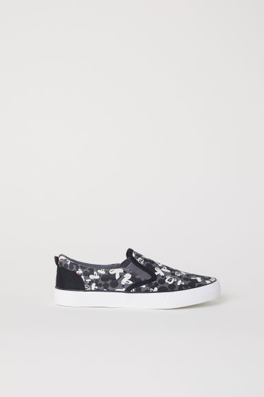 Slip-on trainers - Dark grey/Mickey Mouse - Kids | H&M